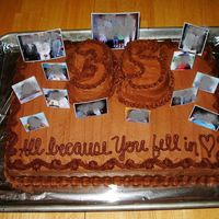 "35Th Wedding Anniversary Cake Sorry about the ""blurring"" - I don't even know how to do that, but these were little photographs I took, printed very small..."