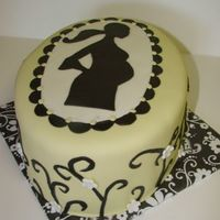 Pregnant Sillhouette This cake was actually done for a birthday, not a baby shower, but thought it was more appropriate for the baby shower album. All...