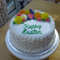 Cakes-21.jpg BC Basket weave with Royal Icing flowers.