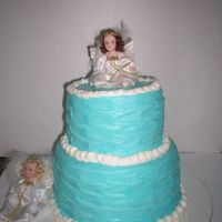 Angel Cake The only instructions I was given for this cake was light blue and angels. I wanted it to be elegant as it was for an adult. Thanks to...