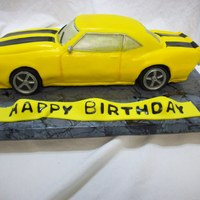 Cody's Camero Last minute cake order. I have made other vehicle cakes but not a car so this is my first car. It is suppose to be a 1968 Camero. Approx....