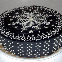 Henna Inspired Cake Different view so the side can be seen
