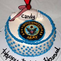 Howard 88Th B-Day   Birthday cake for a retired Army vet who used to work in a candy factory.
