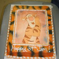 Tigger Tigger birthday cake for child.