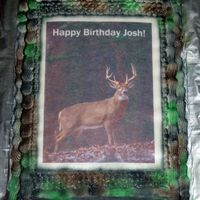 Deer Edible Image Camo cake with a edible image.