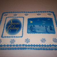 Winter Wonderland Butter cake with buttercream icing, and edible sheets