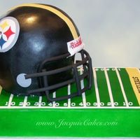 Steelers Football Helmet Here's another helmet cake. This one was for a client to celebrate the Super Bowl 2009 at Hooters with all of the Steelers fans. The...