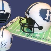 "Arhs_Football_Helmet_2.jpg 9"" football helmet. I wish I could find a better way to make a good looking mask! Other than that I'm really pleased with how it..."