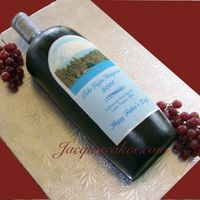 "Wine Bottle Cake  Wine Bottle Cake. I made this for Father's Day with a custom label. I live on Lake Tapps so that's where ""Lake Tapps..."
