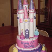 Fairy Princess Castle Cake The castle part was made of paper towel rolls, fondant, gumpaste, sugar cones, regular ice cream cones and fairy sparkle dust. This was a...