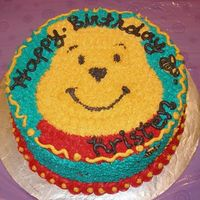 Winnie The Pooh Birthday Cake   This cake was made for my niece's birthday. It is decorated in buttercream icing.