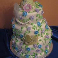 Princess & The Frog I had to make this for a 9 year old's birthday, I had also made cupcakes with crowns and frogs