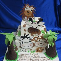 "King Of The Jungle The invitation was my inspration for this cake. Then with a little help from another CC cake designer . I was not to ""thrilled""..."