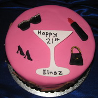 Elnaz's Version Of Sex Of The City Here is my version of Sex and the City cake, it was for a 21 year old girl. Red Velvet cake, Italian buttercream covered in Pink &...
