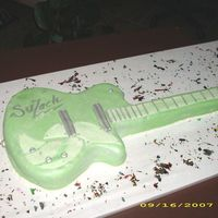 Guitar Cake   Chocolate cake covered with MMF