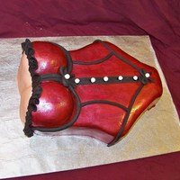Valentine's Day Lingerie Cake covered in fondant...then painted with luster dusts...thanks for looking:)