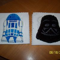 Darth Vader R2D2   used wilton pans for both of these