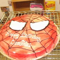 Spiderman You can't find character cakes for a large group, so I had to creat my own. The kids of course loved it.