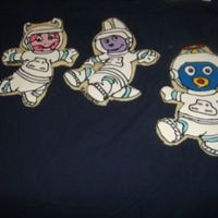 Floating In Space sugar cookies with royal icing