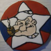 Popeye 2008 fair entry for the decorated sugar cookie category at our county fair.