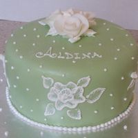 Green Cake Key Lime Cake with Cream Cheese Icing, 8""