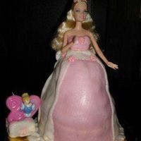 Barbie Princess Made with sugar paste for my little princess, for her 2. Birthday. This was a second cake .