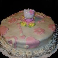 Kitty Made with sugar paste for my little princess, for her 2. Birthday.