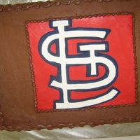St. Louis Cardinals Grooms Cake Lesson #1 class DO NOT take a picture of your cake while it is upside down!! It will NOT look right when you rotate it!!LOL!! Anyway -...