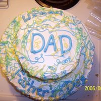 A Last Minute And Very Quick Father's Day Cake It's a butter pecan cake with jam in the middle I started it at noon or so and finished it before my dad got home at 3 it was very...