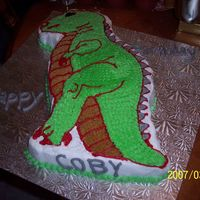 T-Rex   This was done for my brothers co-worker's son