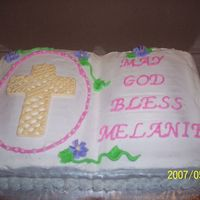 First Communion   I made this for a lady I work with her daughter.