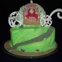 Nataliâ´s Princess Carriage This was a complicated cake to make.... since I really struggle with fondant when covering different shapes. It was strawberry cake with...