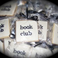 Book Club Cookies Made for a book club. Butter cookie, MMF and gumpaste letters.