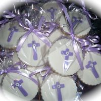 Carolina Cookie favors for a Baptism.