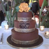 Chocolate And Gold Wedding Cake I made this cake for a friend of over 40 years-it was an honor for me to make this cake for her. Triple chocolate-chocolate cake with...