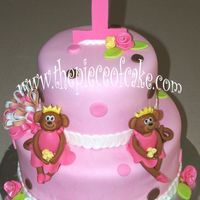Twin Cake 2 tier cake for twin girls
