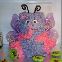 Butterfly Teddy Bear The 2nd cake I have made. My 13 year old cousin (at the time) was very specific about it being pink/purple and some sort of fairy or...