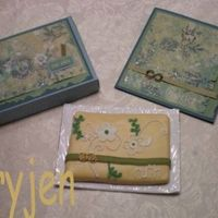 Ruth This cookie was designed to go with the card my friend designed. When I realized I needed a little box, she made me one! It was pretty last...