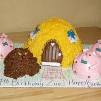 "Three Little Pigs This cake was so fun to make! My daughter kept saying""mom my cake is so cool""!"