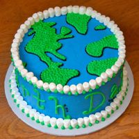 Earth Day 2009 Made for my son's former Kindergarten teacher's class' Earth Day party. That's a mouthful! White cake, vanilla...
