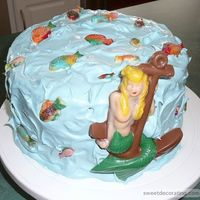 Mermaid Cake This cake was a lot of fun to make. All of the decorations are made using chocolate molds. The icing is a SF whipped icing I purchased at...
