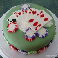 Poker Cake #2 This is a top view of the poker cake.