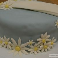 Wilton Fondant & Gumpaste Class Cake This was my first cake for the new Wilton's class at Michaels.