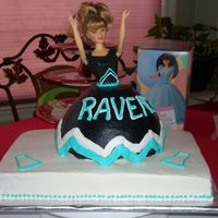 Cheerleading Cake Barbie cheerleading cake for a friend's daughter's cheer party. Chocolate with buttercream