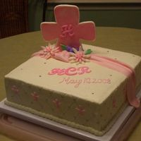 First Holy Communion Cake for my Goddaughter which is my attempt to copy none other than my cake crush SugarShack!