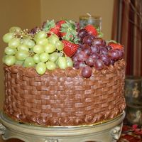 Chocolate With Fruit   This is the first cake that I put fresh fruit on the top and it was very easy and quick.
