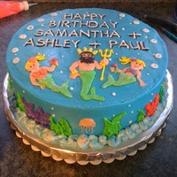 Sparkley Mermaid Princess Cake  My twin nieces requested a sparkley mermaid pincess cake, so with their father's birthday a few days before their party I asked if I...