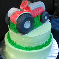 Ford 8N A tractor cake for pap's birthday, 9/07