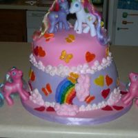 My Little Pony Cake First, I must give credit where credit is due, melissablack and oohlalacakes were the inspiration for this cake. All that said, this cake...