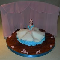 Sugar Plum Fairy This was taken from Debbie Brown's Enchanted Cakes. The cake is pound cake. Everything else is Fondx. Her neck is bulging a bit, but...